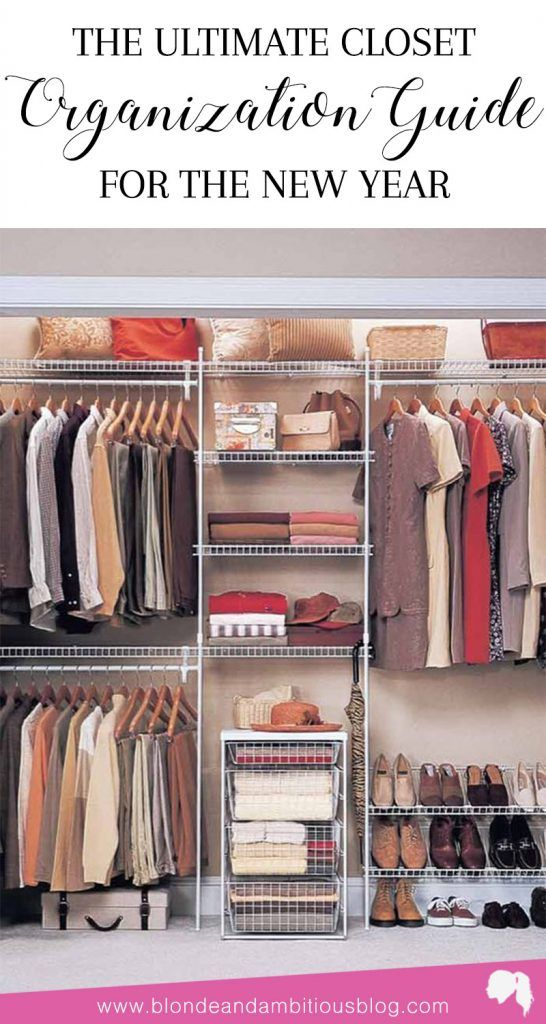 The Ultimate Closet Organizing Guide For 2018 - get rid of the clutter and minimize your new year | new year, closet organization, bedroom closet organization, closet clean out
