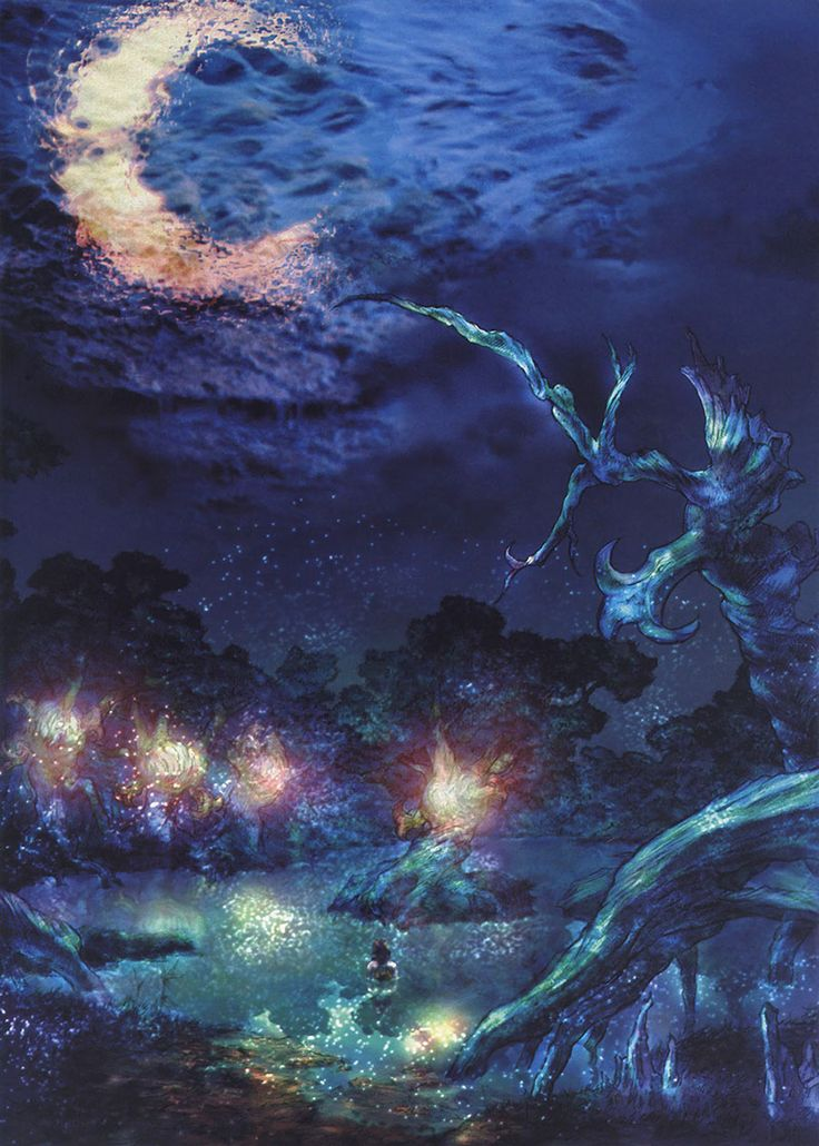 Week 10 - Final Fantasy X - Concept Art Mon - Lake Macalania
