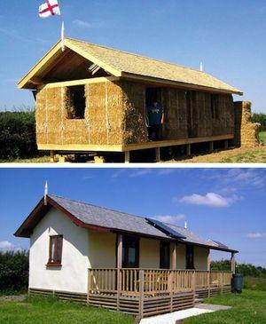 Straw bale house: