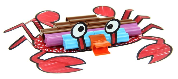 Crab craft with connector pen