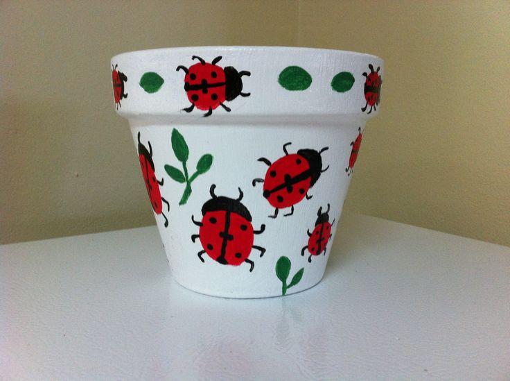 flower pot ladybugs