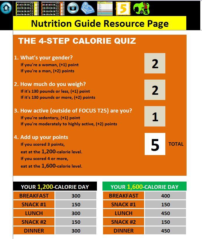 Focus T25 Meal Plan Download - Bing Images