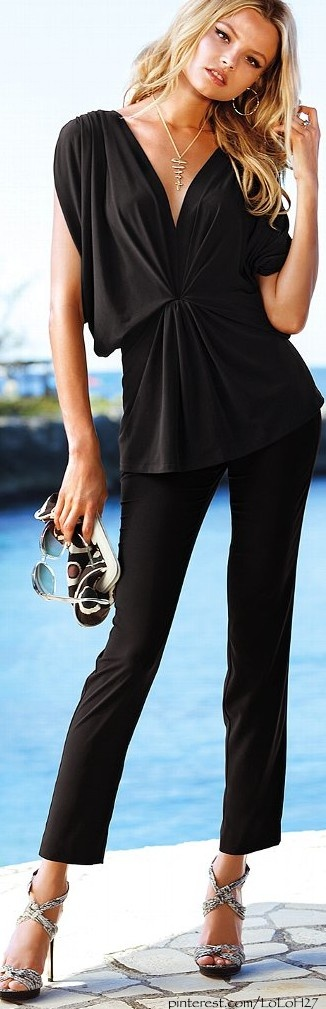 All black • Street 'CHIC • ❤️ ✿ιиѕριяαтισи❀ #abbigliamento