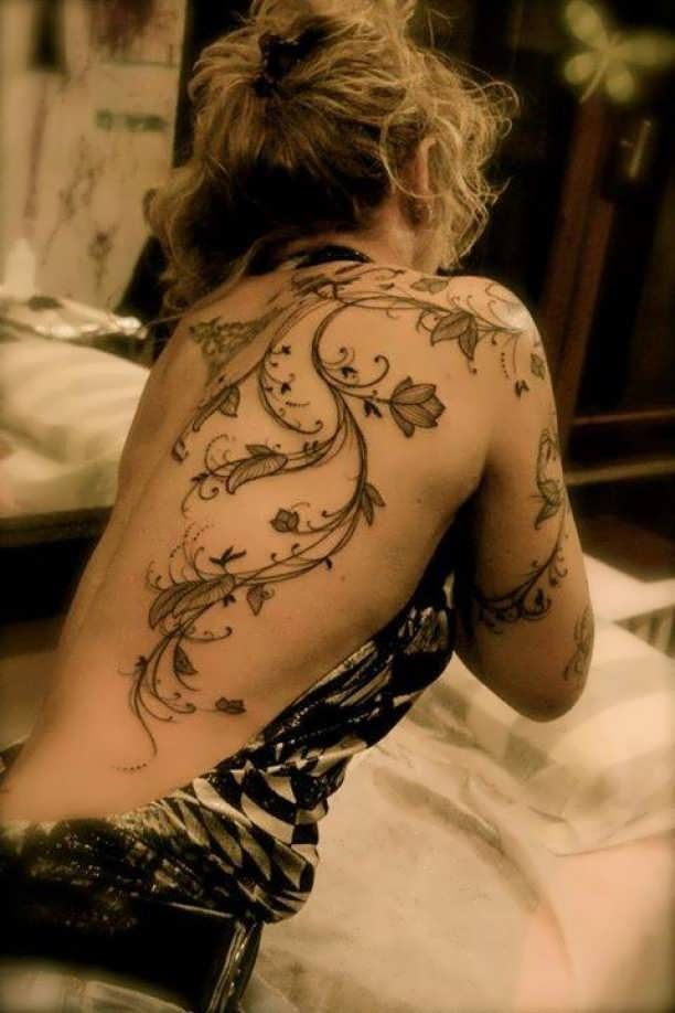 Flower vine back Arm tattooed  - http://tattootodesign.com/flower-vine-back-arm-tattooed/  |  #Tattoo, #Tattooed, #Tattoos