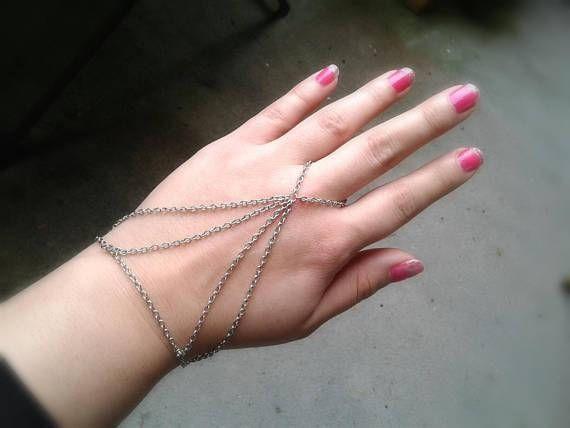 Harness slave bracelet silver bohemian hand chain