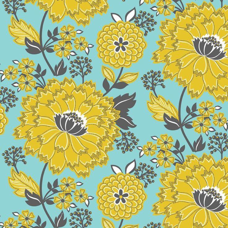 http://www.plushaddict.co.uk/blend-turkish-delight-delightful-floral-blue.html Blend - Turkish Delight Delightful Floral Blue - cotton fabric