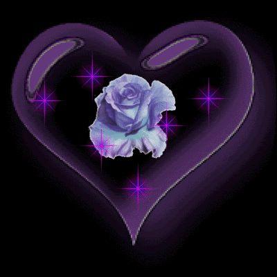 valentine heart animations gif   FlowerRoseHeartPurpleSparkles photo FlowerRoseHeartPurpleSparkles.gif
