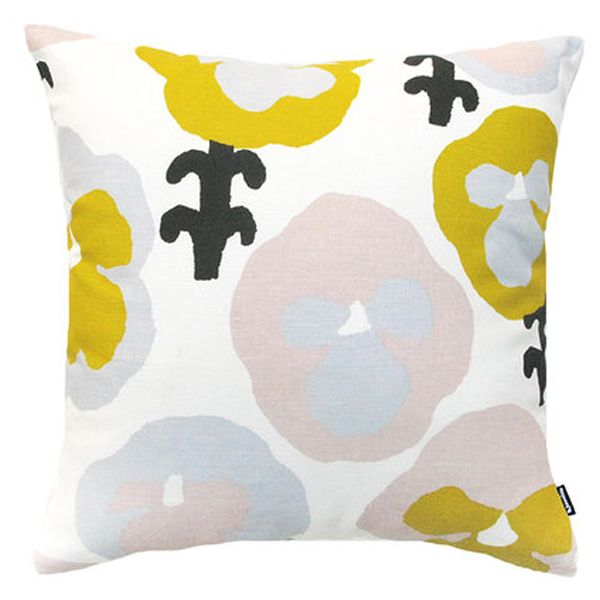 Kauniste's Orvokki cushion cover, yellow