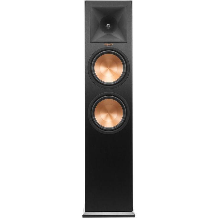 """Klipsch - Reference Premiere Dual 8"""" 900-Watt Passive Floor Speaker (Each) - Ebony"""