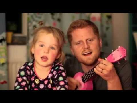 Father daughter duet lights up the night .  Beautiful!