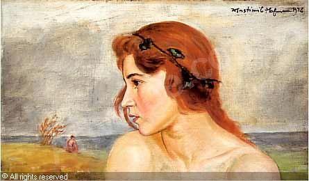 HOFMANN Wlastimil - Zamyslona dziewczyna