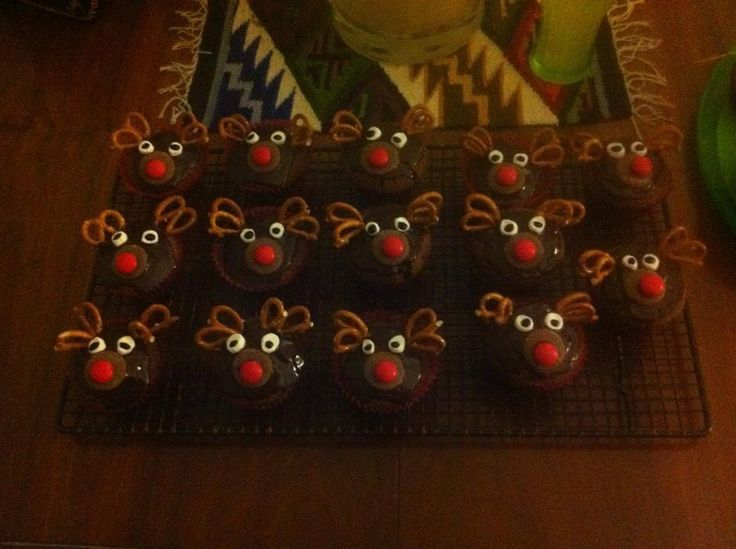 Reindeer Cakes For The Christmas Fair At School