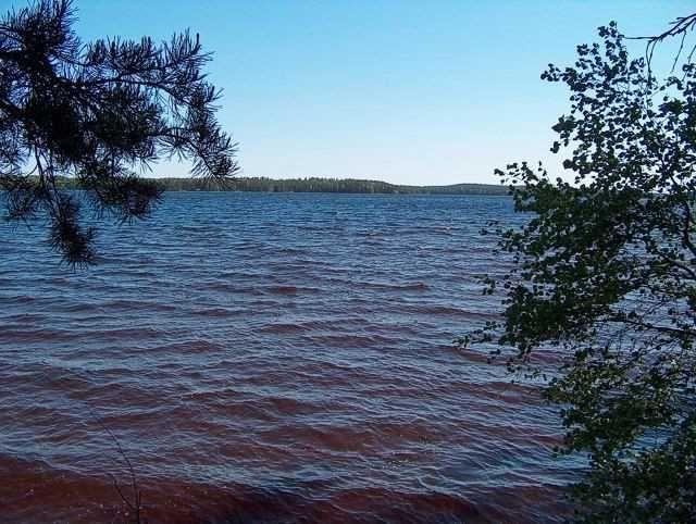 Pyhäjärvi, järvimaisema laiturilta