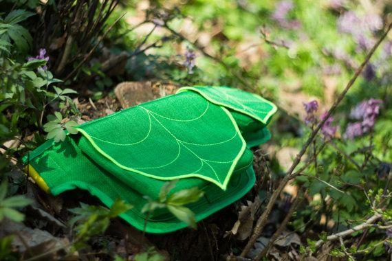 Green Leaf Fanny Pack Hip Bag Waist Bag Waterproof by LeaflingBags