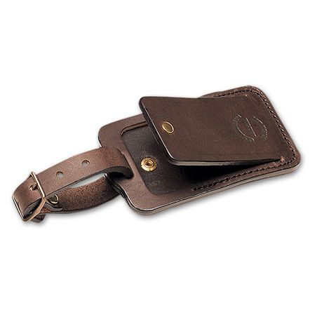 www.Filson.com | Leather Luggage Tag - need for my new Filson bag!