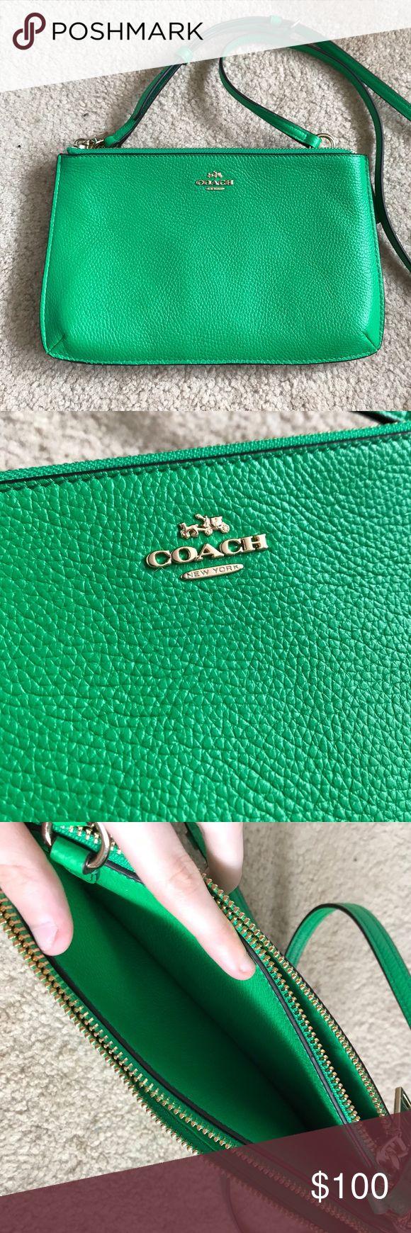 green coach crossbody purse Nwot, never used Coach Bags Crossbody Bags