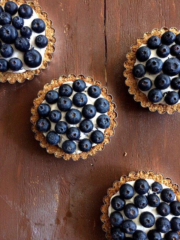 Blueberry Lemon Curd Tarts: