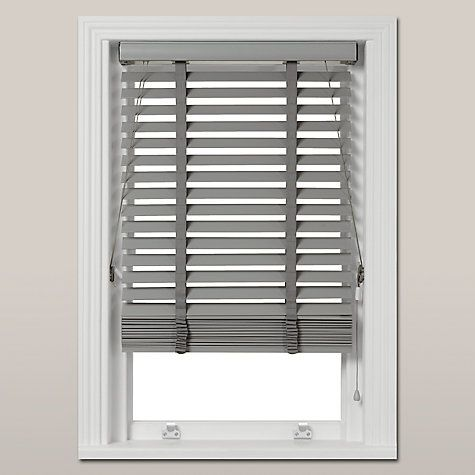 Buy John Lewis Croft Collection Wood Venetian Blind, FSC-Certified, 50mm, Blue Grey Online at johnlewis.com