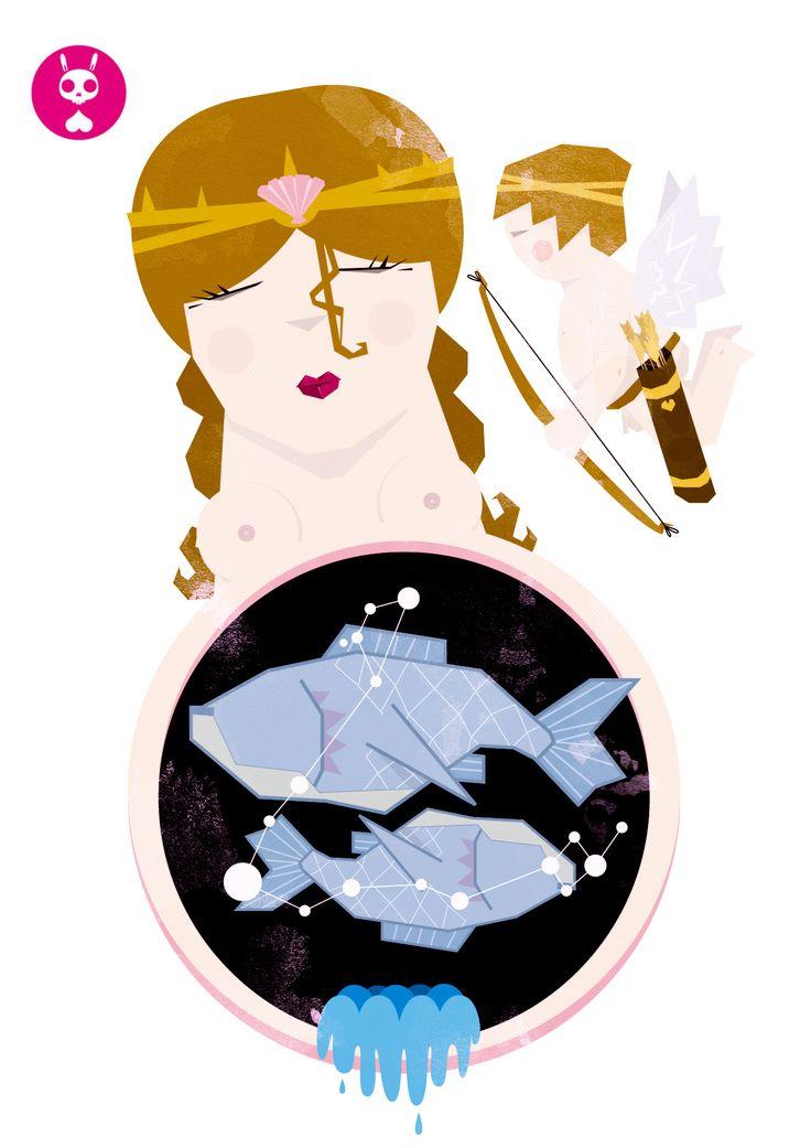 Piscis (Afrodita y Eros huyendo de Tifón)