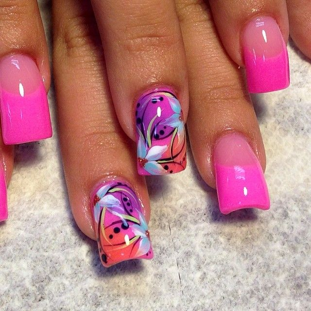 Nail Art Designs & Pink French Nail