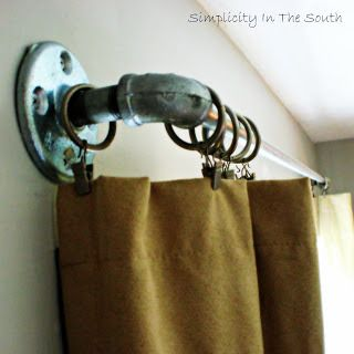 plumbing supplies...love the price, simplicity, industrial contemporary...looks great with cheesecloth, burlap, silk, or denim!