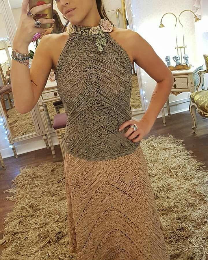 17 best images about vestidos elaborados a crochet on