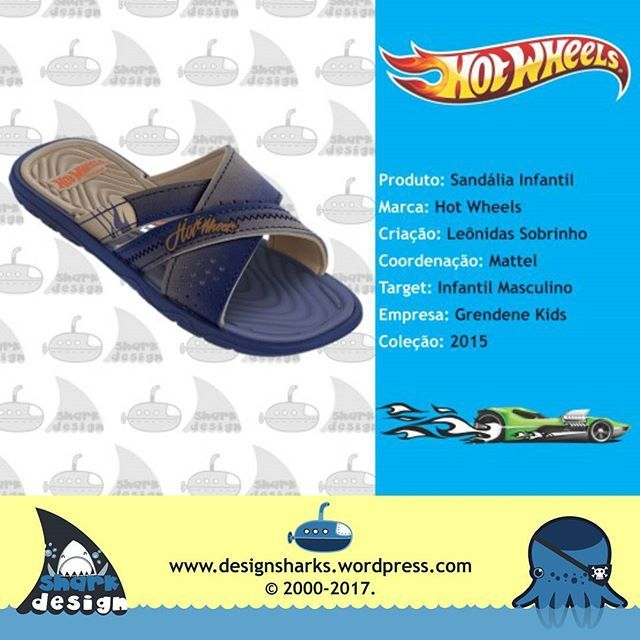 Uma renovação de sandália do Hot Wheels para Grendene Kids.    #sandalias #sandals #hotwheels #design #designproduct #designgrafico #designdigital #webdesign #web #graphicdesign #productdesign #logotipo #marcas #leonidas #leonidasdesigner #tubaroes #tubarao #sharks #sparta