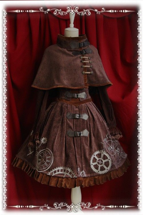 Infanta Steampunk Time Machine Velvet JSK Dress