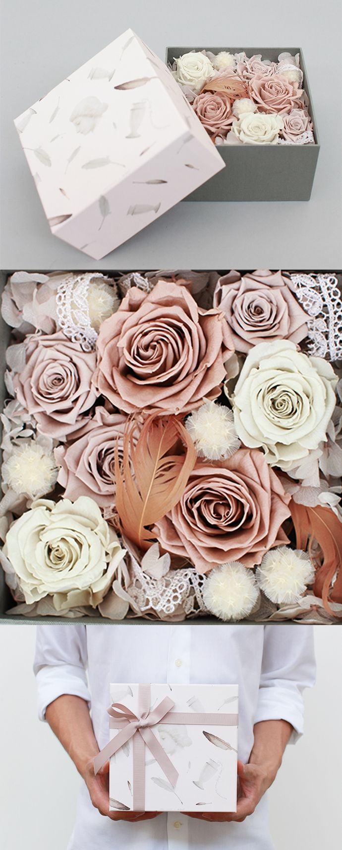 一封陌生女人的来信(艺术家限量版永生花盒)¥650 永生花,Preserved Fresh…