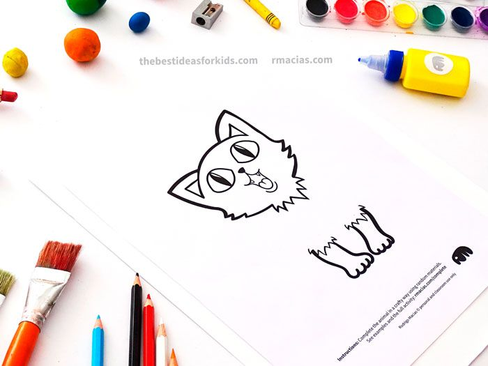 """Complete the animals"" art activity"