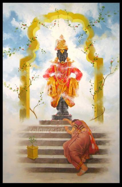 quotvitthal bhaktiquot a great artwork by artist babu awate