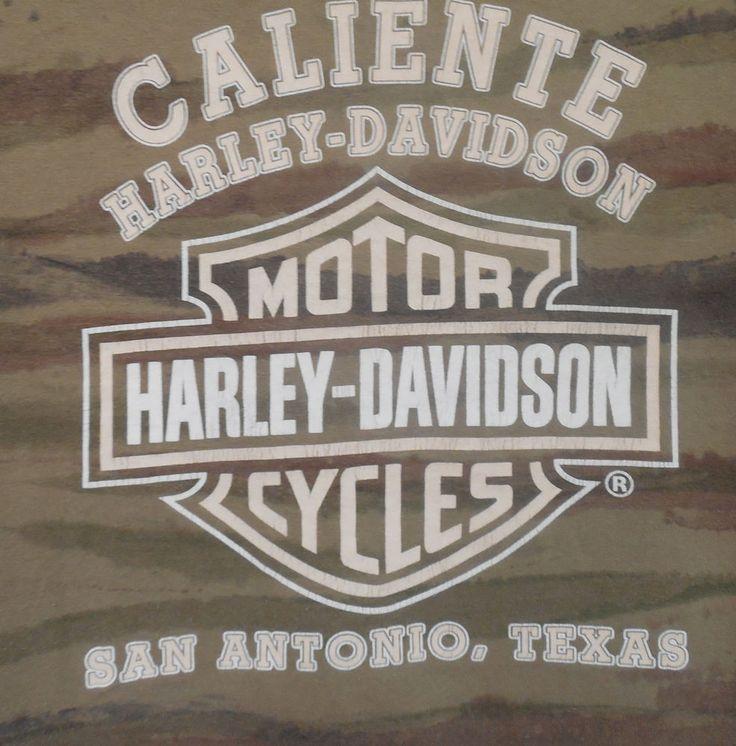Harley Davidson San Antonio Texas Caliente Camouflage Men's Large T Shirt #HarleyDavidson #GraphicTee