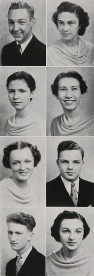 1937 high school hairdos - from the yearbook of Forest Park High School in Baltimore, Maryland.  #ForestPark #Baltimore #Maryland #1937