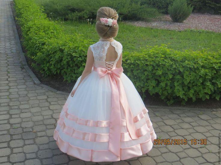 Купить Нарядное платье для девочки - белый, пышное детское платье, нарядное платье, детское платье