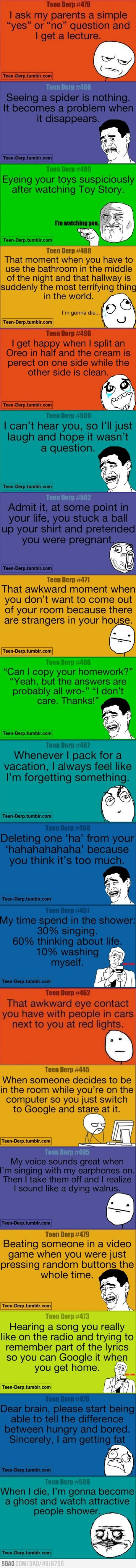 But really my teenage life