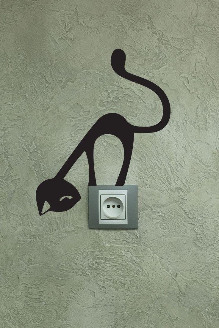 Vente Stickers / 15821 / Design et city / Sticker chat Noir