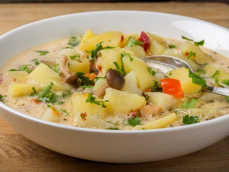 Bors de cartofi cu ciuperci si dresala - BucateleNoastre.ro