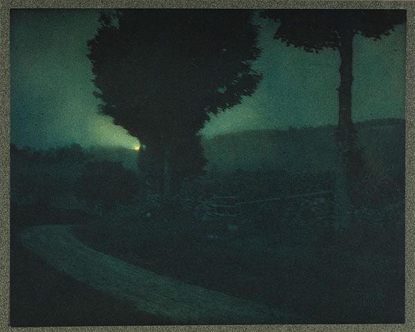 Road into the Valley - Moonrise Steichen, Edward, b.1879-1973 Camera Work Steichen Supplement, 1906 16.4 x 20.5 cm Hand-toned photogravure