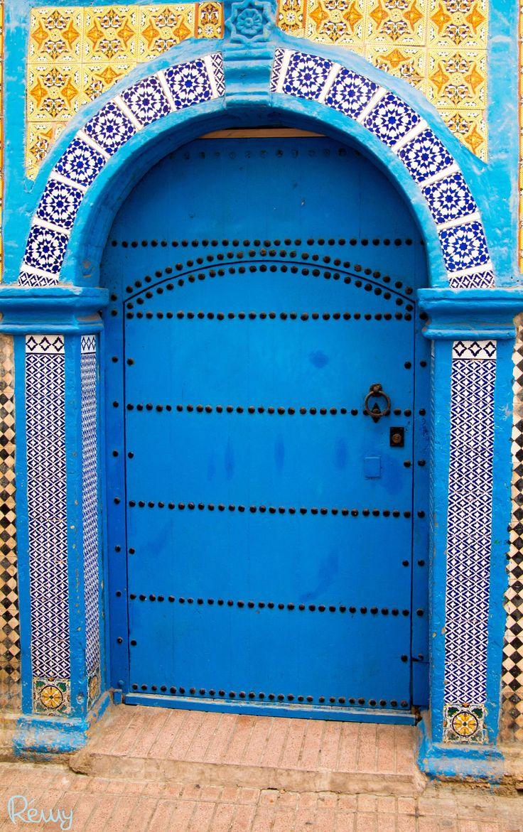 Splendid blue doir in Essaouira, Morocco