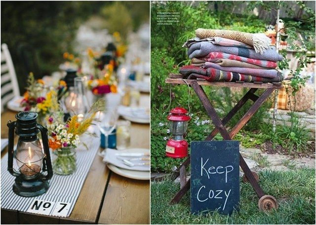 country camp wedding theme ideas / http://www.deerpearlflowers.com/camp-wedding-ideas/
