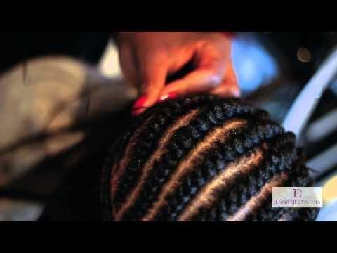 Brief: Full head closed sewn in weave with Fringe (Jennifer Cynthia Hair Uk) - YouTube