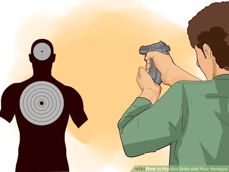 5 Ways to Practice Drills with Your Handgun - wikiHow