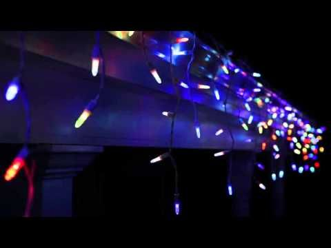 these are amazing as party or christmas lights super color morphing led lights icicle lights that hang from the roof and change colors - Christmas Lights That Change Color