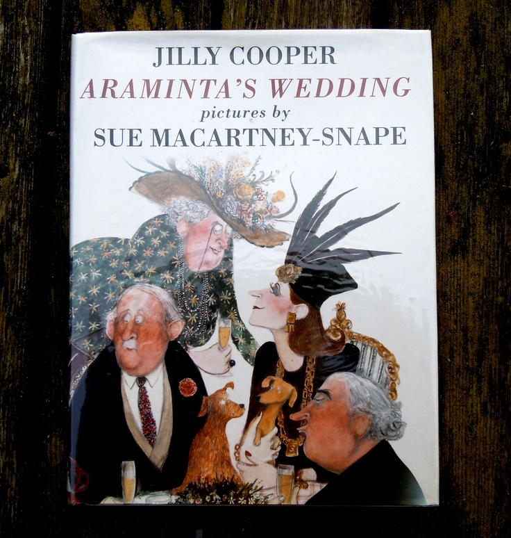 Collaboration between Jilly Cooper and artist Sue Macartney-Snape for the 1993 edition of Araminta's Wedding