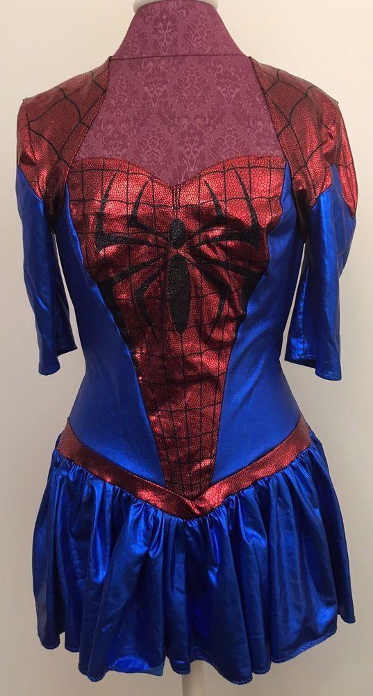 Women Of Marvel Adult Costume Size Large 12-14 Spider-Girl Dress & Cardigan Set #Marvel #Dress