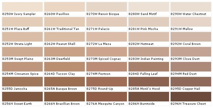 Duron Paints Paint Colors Wall Coverings House Chart Chip Sample Swatch Palette Colo In