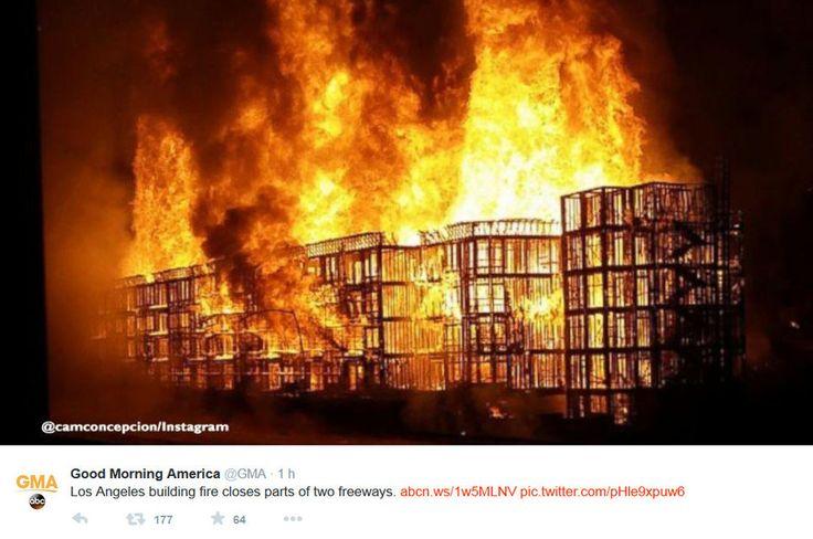 Etats-Unis: Énorme incendie dans le centre de Los Angeles - News: Standard - lematin.ch