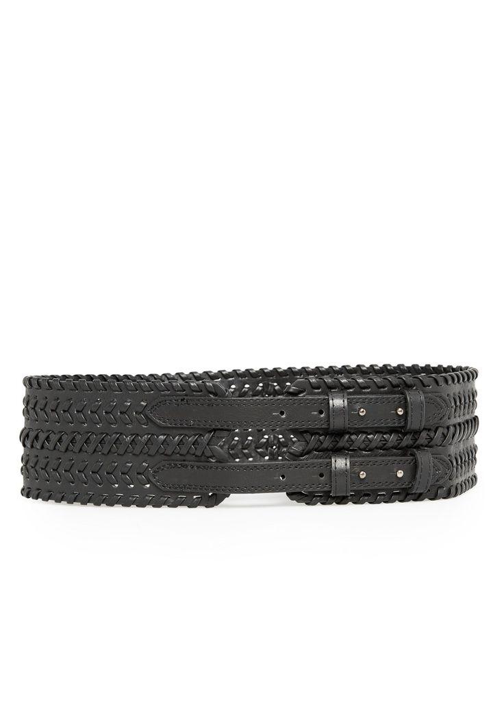 Braided sash belt