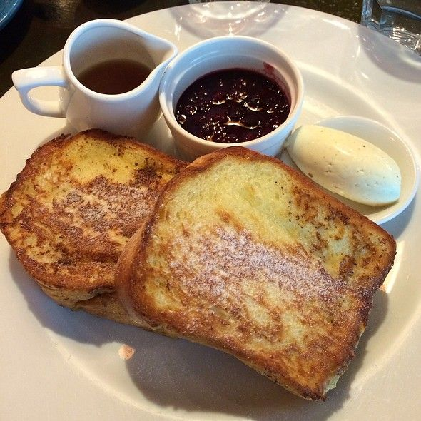 Sweet Morning French Toast Stuffed With Mangoes Served With Mascaporne Cream And Wildberry Compote. @ Wild Honey (Mandarin Gallery)