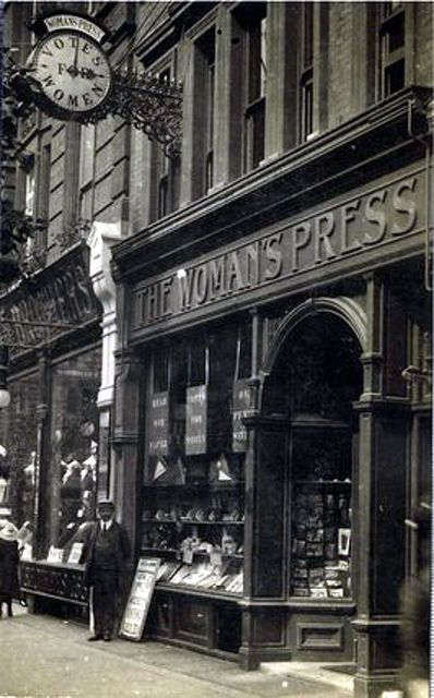 Charing Cross Road ~ No 156 - Woman's Press Shop ~ 1912